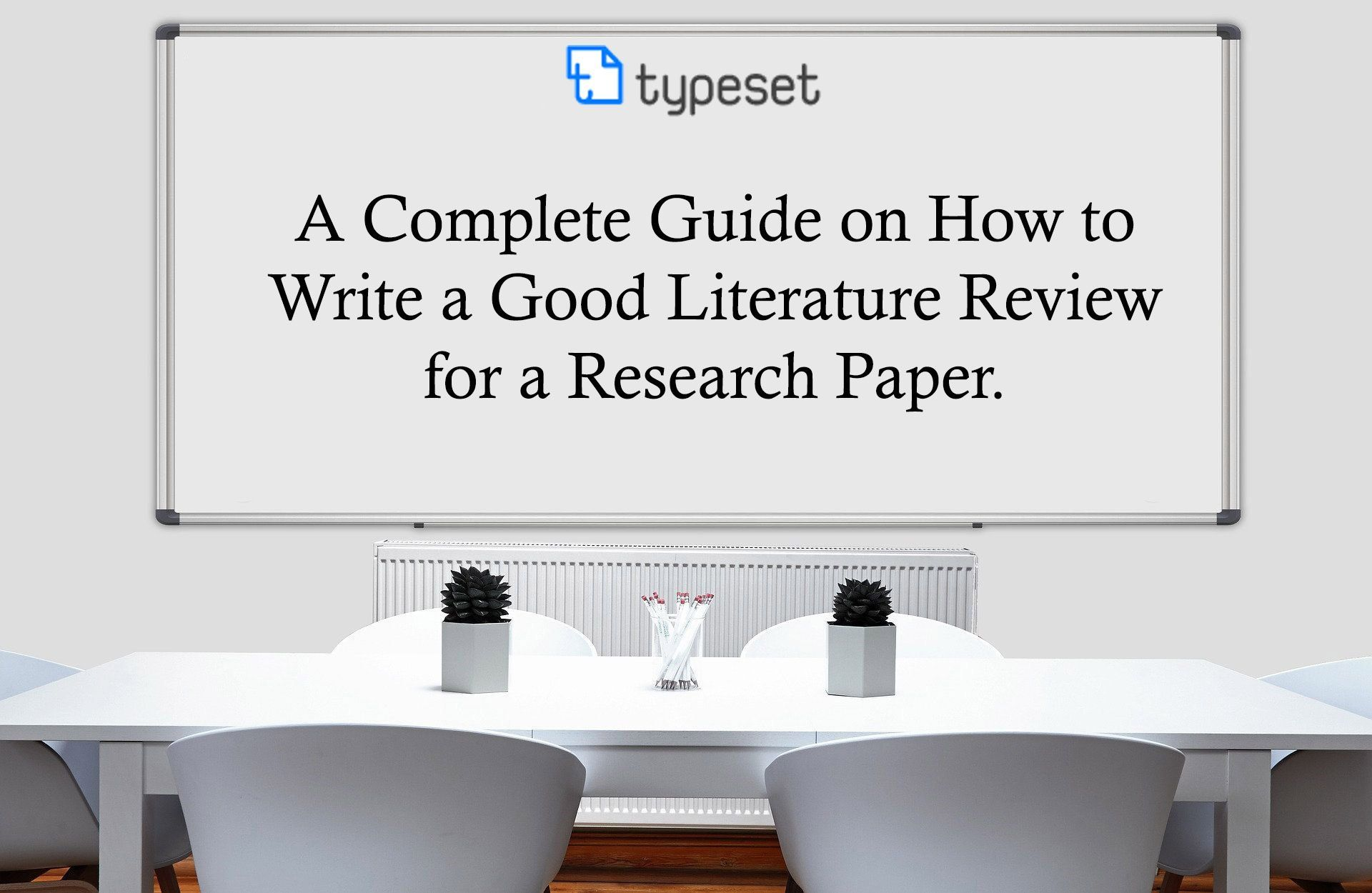 how to write literature review for a research paper